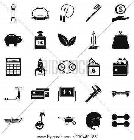 Beam Icons Set. Simple Set Of 25 Beam Icons For Web Isolated On White Background
