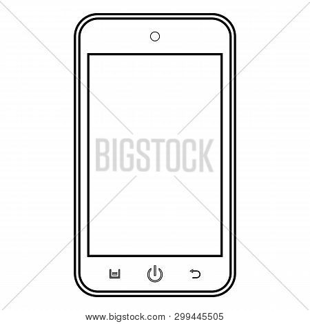Smartphone Outline Mobile Phone Vector Eps10. Smartphone Outline Sign. Mobile Phone Outline Icon