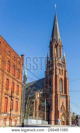 Schwerin, Germany - April 16, 2019: St. Pauls Church In The Center Of Schwerin, Germany
