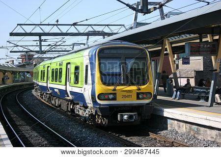 Dublin Connolly, ,ireland, April 2010, An Iarnrod Eireann Train Service