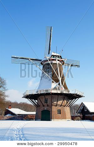 Dutch Windmill Near Appel