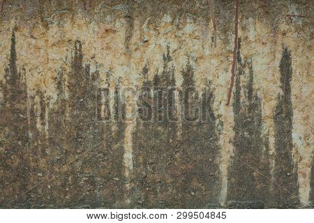 Old Grunge Textures Wall Background. Perfect Background With Space.