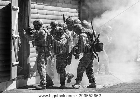 Cherkasy Reg, Ukraine - May 03, 2019: Demonstrative Performances By Border Guards On The Territory O