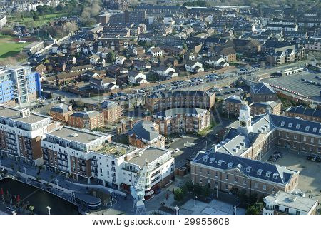 View Across Portsmouth. Hampshire.UK