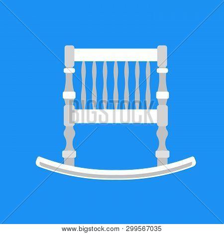 Baby Cradle Vector Icon Newbord. Child Bed Care Cartoon Cute White Symbol. Toddler Sleep Pushchair C