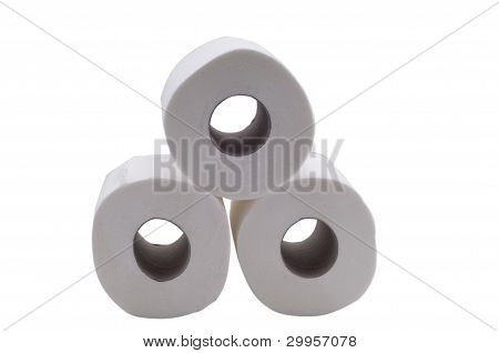 three toilet paper