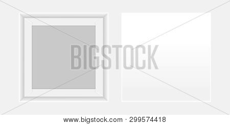 Square White Box Open, Top View Of White Box Isolated On White Background, Square Box White Packagin