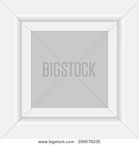 Square White Box Tray Open, Top View Of White Box Tray Isolated On White, Square Box White Packaging
