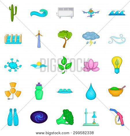 Strength Icons Set. Cartoon Set Of 25 Strength Icons For Web Isolated On White Background