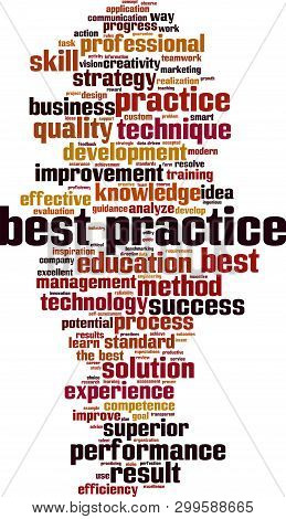 Best Practice Word Cloud Concept. Collage Made Of Words About Best Practice. Vector Illustration
