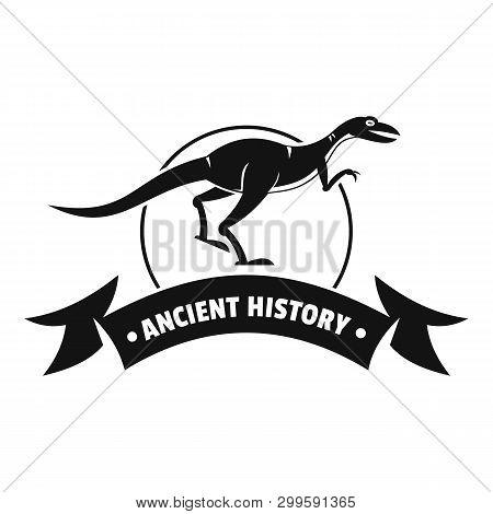 Jurassic raptor logo. Simple illustration of jurassic raptor logo for web poster