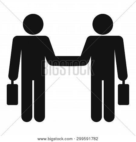 Businessman Handshake Icon. Simple Illustration Of Businessman Handshake Icon For Web Design Isolate