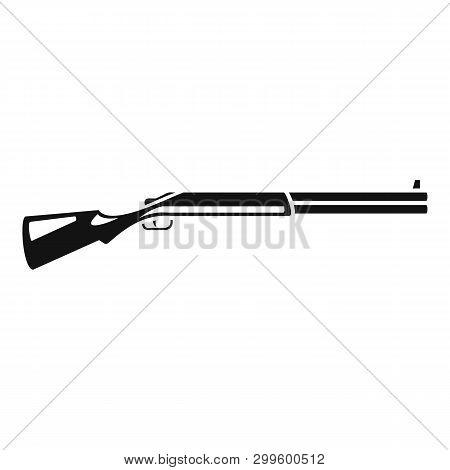 Hunting Shotgun Icon. Simple Illustration Of Hunting Shotgun Icon For Web Design Isolated On White B