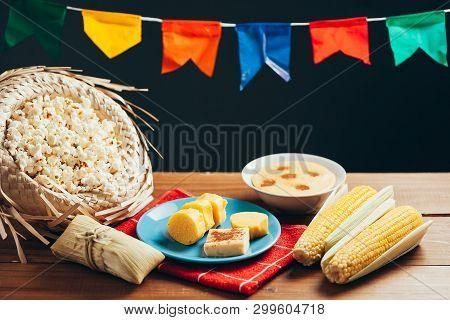 Typical Food Of Brazilian Festa Junina - June Festival