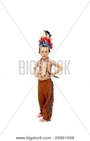 Costumed Indian Brave
