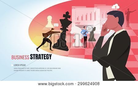 Business Concept. Startup Concept Business Experts Create New Business Models.businessmen Flying Wit