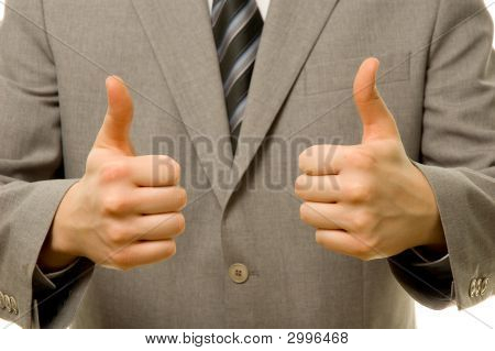 Thumbs Up With Both Hands