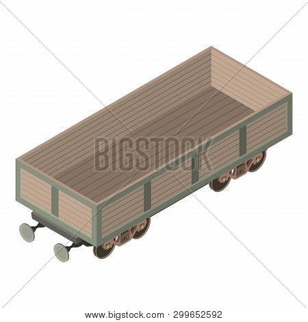 Wagon Industry Icon. Isometric Illustration Of Wagon Industry Icon For Web