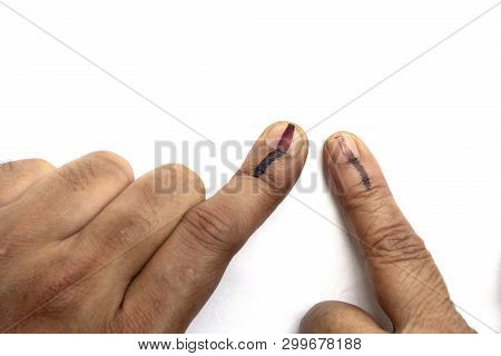 Indian Citizens Voted , Exercized Voting Rights And Got Their Index Fingers Inked. India Is The Larg