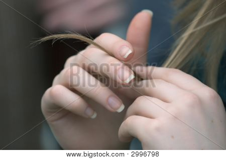 Hands With Hair Lock