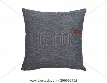 One Pillow Isolated On The White Background