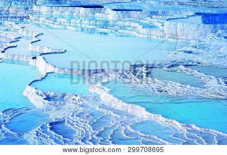 Natural Beauty Of Pool Of Pamukkale Turkey