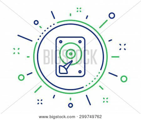 Hdd Icon. Hard Disk Storage Sign. Hard Drive Memory Symbol. Quality Design Elements. Technology Hdd