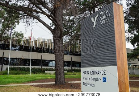 Melbourne, Australia - September 28, 2018: Yarra Valley Water Is A Water Distribution Business In Me