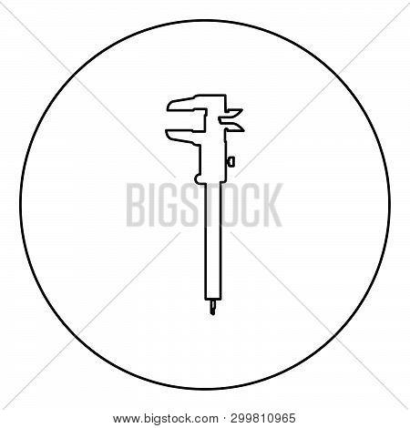 Caliper Hand Caliper Sliding Caliper Vernier Caliper Caliper Gage Slide Gage Trammel Icon In Circle