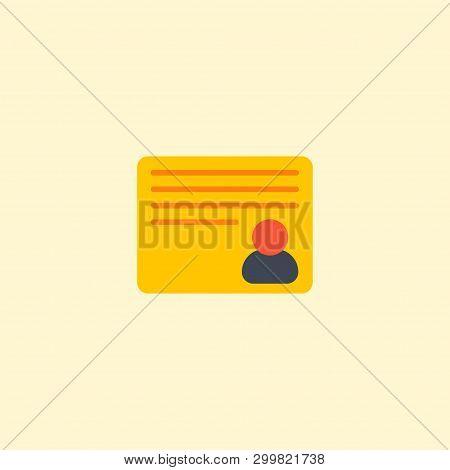 Personal Task Icon Flat Element.  Illustration Of Personal Task Icon Flat Isolated On Clean Backgrou