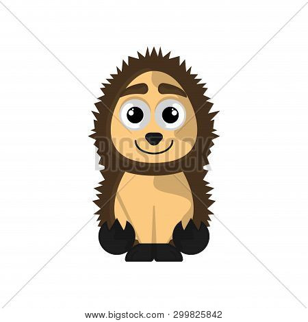 Isolated Cute Porcupine On White Background - Vector