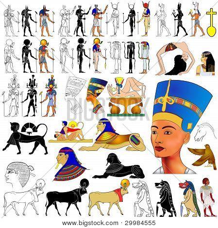 Vector- Ancient Egypt motifs