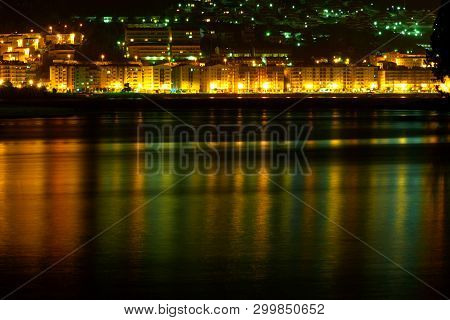 Baiona; Nigh Landscape, Light And Colors Reflected