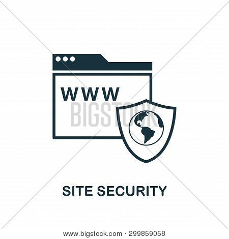 Site Security Icon. Creative Element Design From Icons Collection. Pixel Perfect Site Security Icon
