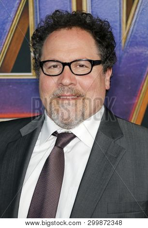 Jon Favreau at the World premiere of 'Avengers: Endgame' held at the LA Convention Center in Los Angeles, USA on April 22, 2019.