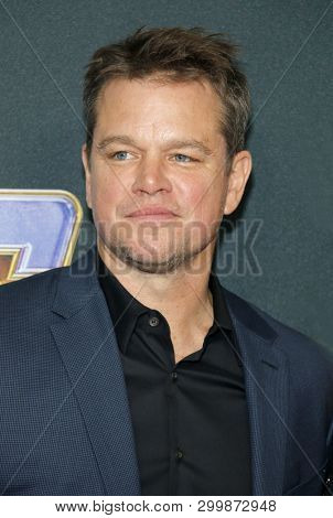 Matt Damon at the World premiere of 'Avengers: Endgame' held at the LA Convention Center in Los Angeles, USA on April 22, 2019.