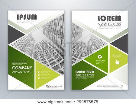 Green Modern Brochure Design, Brochure Template, Brochures, Brochure Layout, Brochure Cover, Brochur