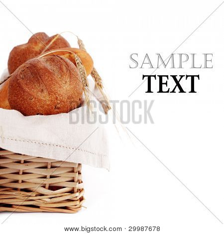 Various baking isolated on white background(With sample text)