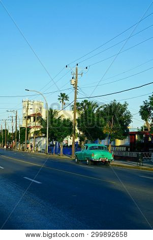 Varadero, Cuba, February 27, 2019 : Town Of Varadero, Cuba.