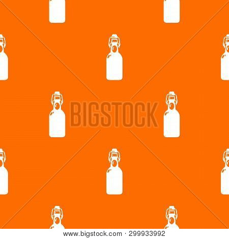 Bottle With Bung Pattern Vector Orange For Any Web Design Best