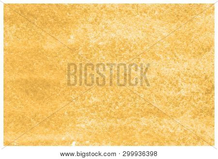 Russet Orange Abstract Watercolor Background Hand-drawn On Paper. Volumetric Smoke Elements. For Des