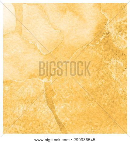 Russet Orange Watercolor Banner. Abstract Watercolor Hand Drawn Background Design. Paper Texture Car