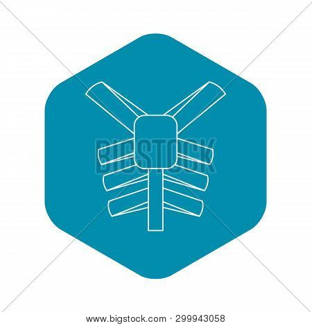 Human Thorax Icon. Outline Illustration Of Human Thorax Vector Icon For Web