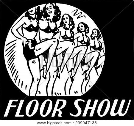 Floor Show - Retro Ad Art Banner