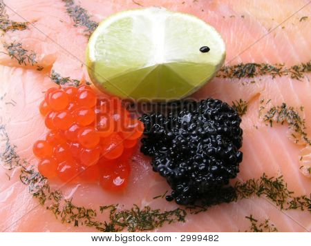 Caviar And Salmon