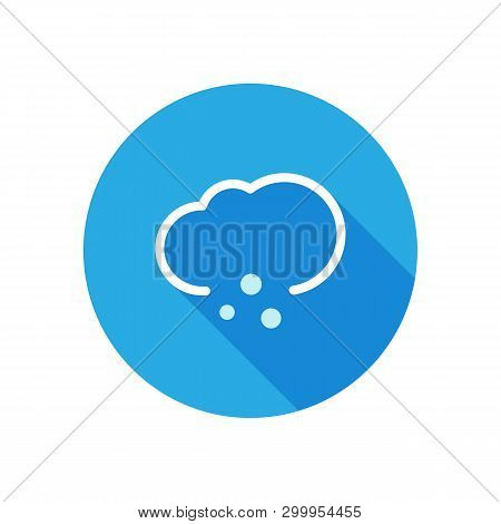 Weather icon with long shadow, hail, precipitation, day poster