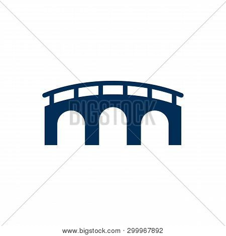 Isolated Bridge Icon Symbol On Clean Background. Vector Golden Gate Element In Trendy Style.