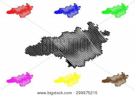Kirovohrad Oblast (administrative Divisions Of Ukraine, Oblasts Of Ukraine) Map Vector Illustration,