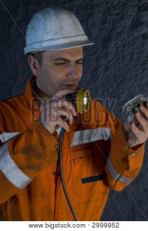 Inspección de la roca