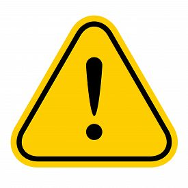 Warning Sign Yellow, Exclamation Mark Icon, Danger Sign, Attention Sign, Caution Alert Symbol Orange